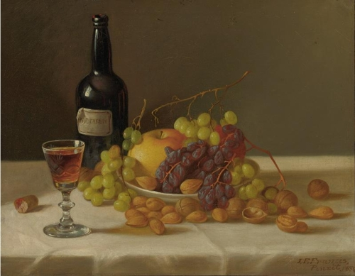 John_F._Francis_-_Still_life,_fruit_and_wine_glass