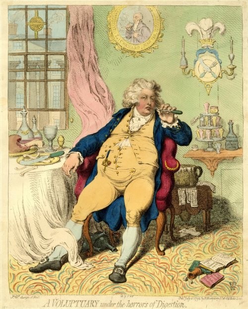 James Gillray's A Voluptuary Under the Horrors of Digestion (1792)