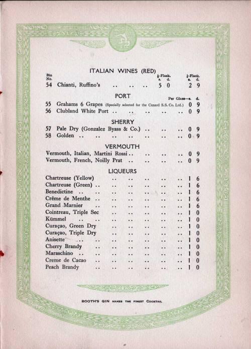 Sherrylistwinecunardline1927