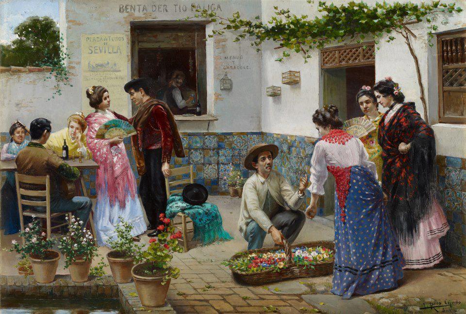 El vino de jerez en la pintura costumbrista jerez de cine - Laminas antonio lopez ...