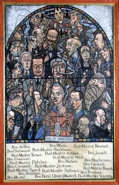 Past Masters and Brethren of the Art Workers Guild, 1932 (pastel on paper)