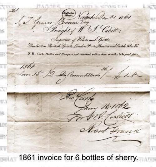 sherryinvoice1861bottlessherry