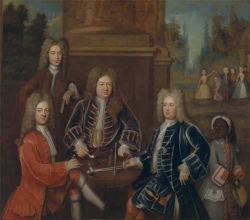 Elihu_Yale,_the_2nd_Duke_of_Devonshire,_Lord_James_Cavendish,_Mr._Tunstal,_and_a_Page_-_Google_Art_Project