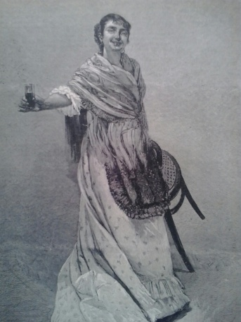 ilustracionespañolmujercopa